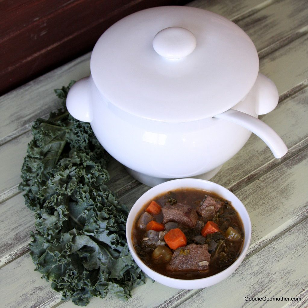 Winter Kale Beef Soup