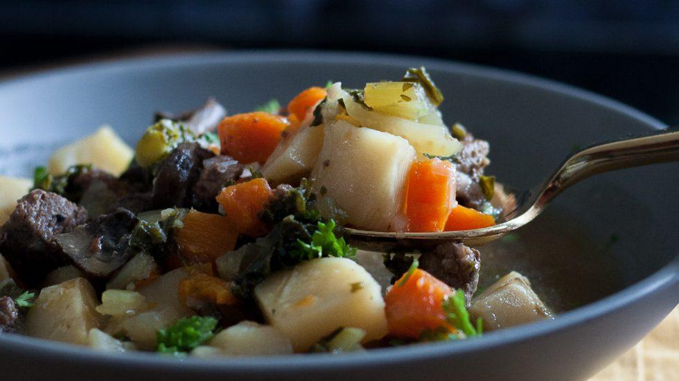 Winter Kale Beef Soup