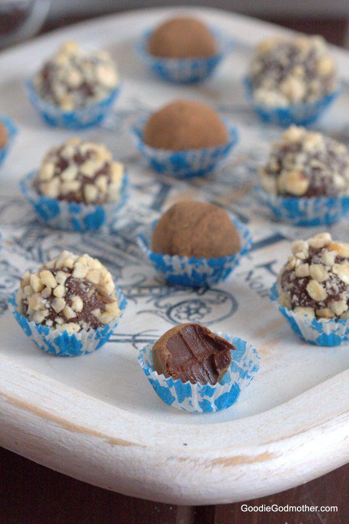 DIY nutella truffles