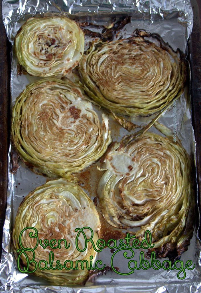 Easy oven roasted cabbage recipe - healthy and delicious!