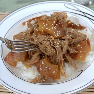 Slow Cooker Sesame Ginger Pork with Grilled Pineapple
