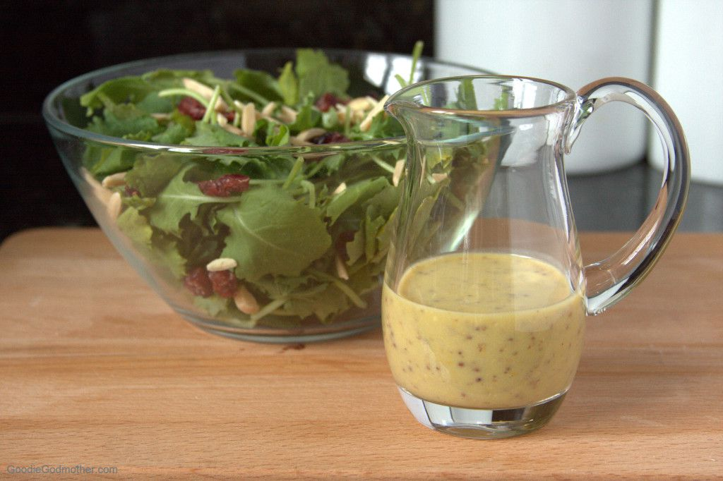 Meyer Lemon Dijon Vinaigrette Dressing - Goodie Godmother