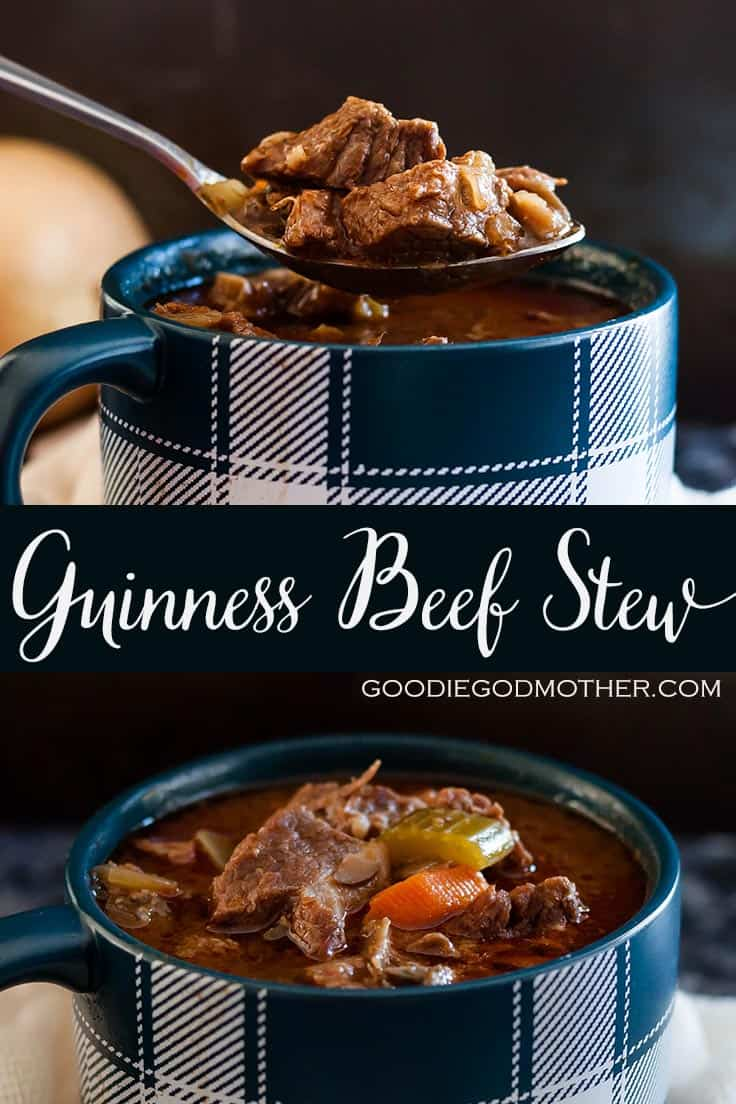 Easy to make, and customize, this easy Guinness beef stew recipe is a cold weather family favorite around Saint Patrick's Day. * GoodieGodmother.com