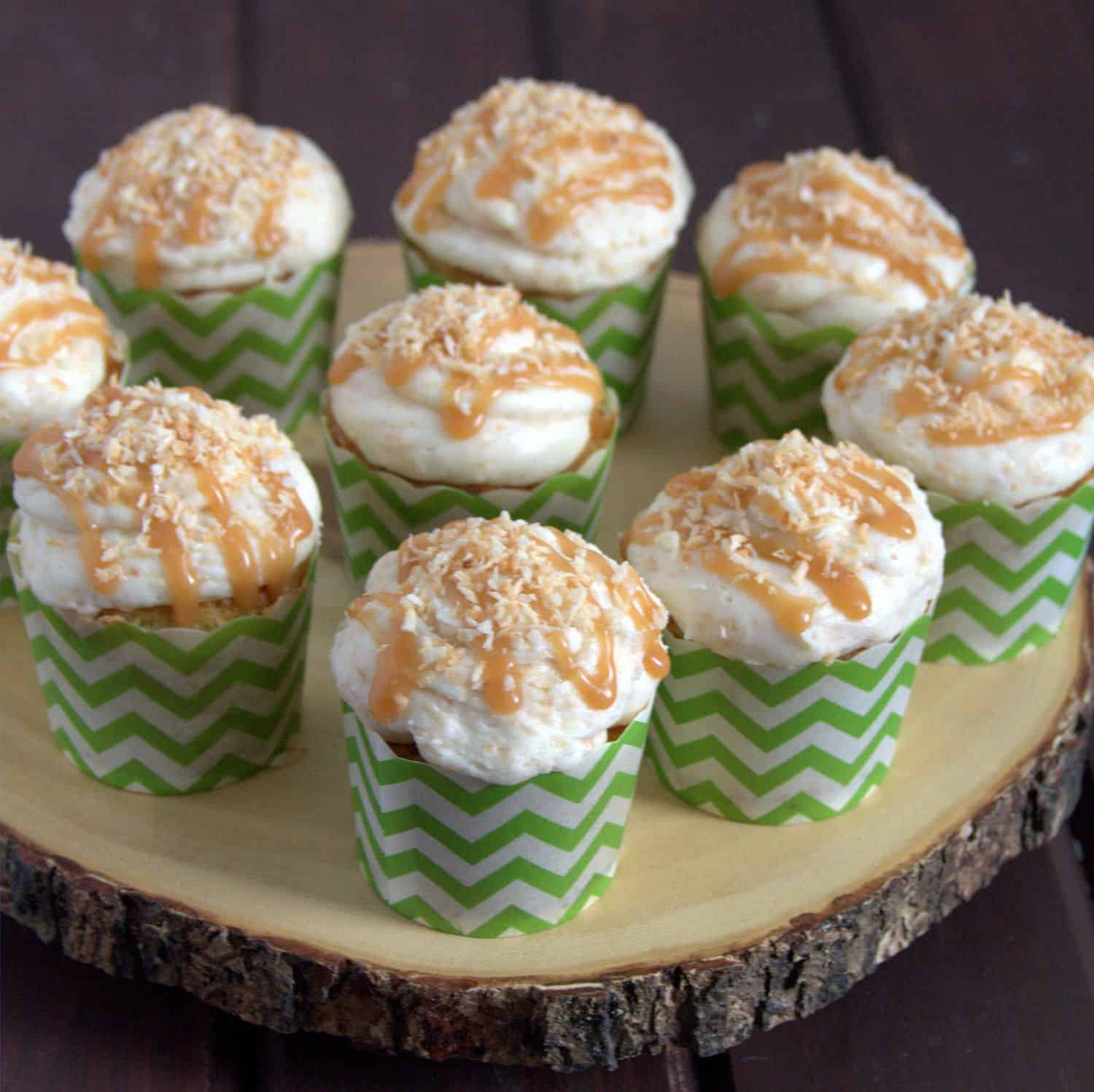 Coconut Caramel Cupcake Recipe - delicious, and not too sweet!