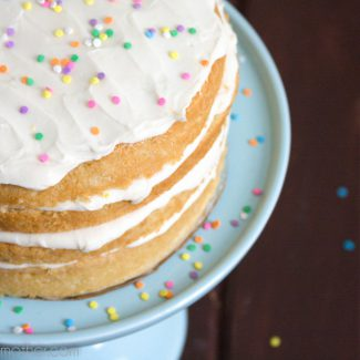 Vegan Lemon Cream Cake