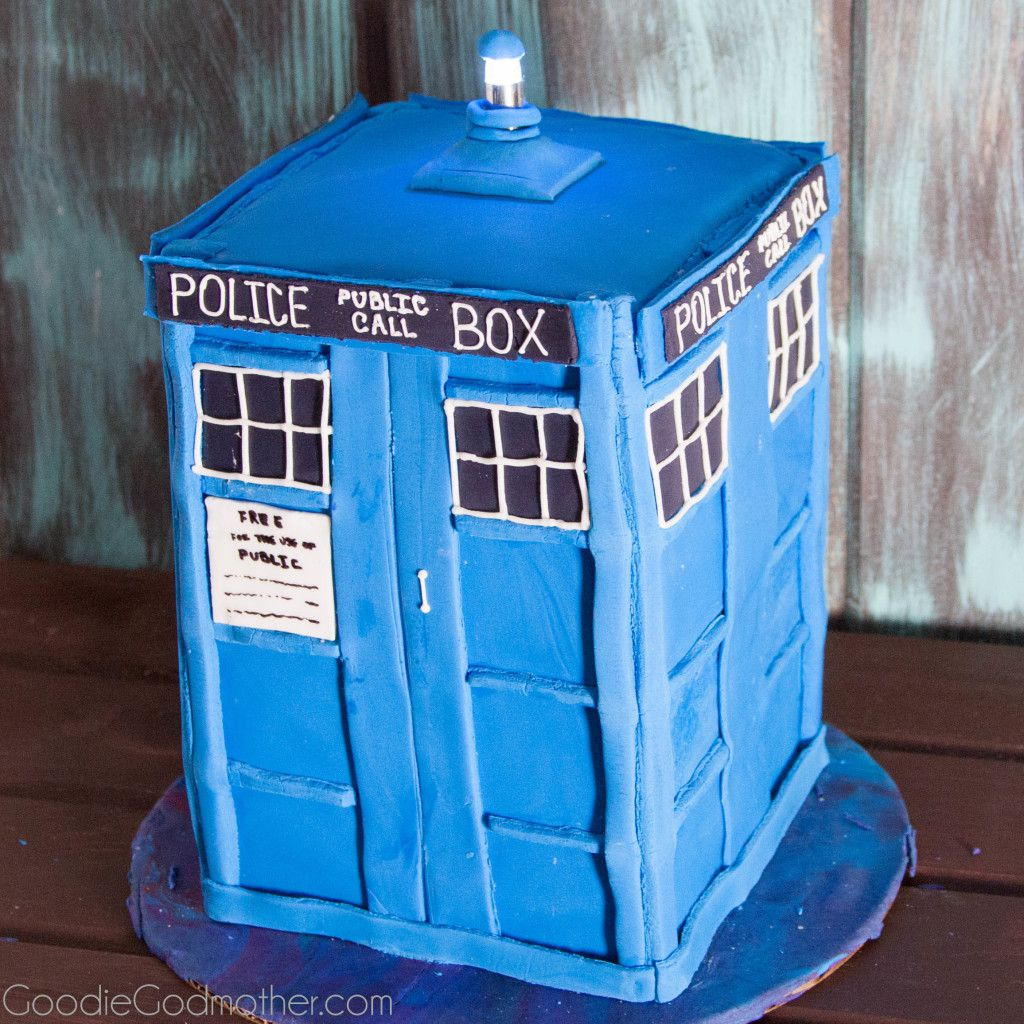 Learn How To Make A Tardis Cake With This Step By Tutorial On