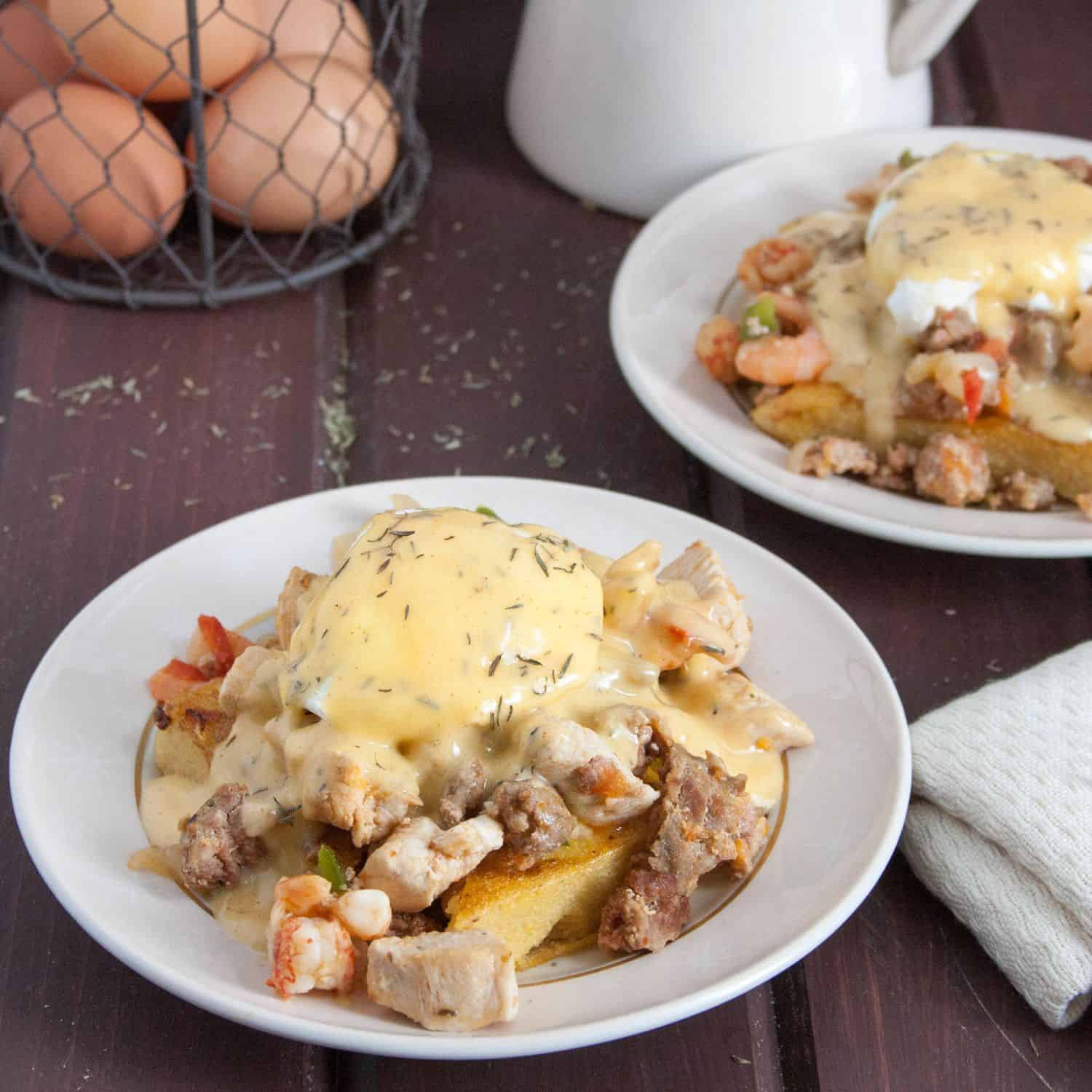 Add a New Orleans inspired twist to breakfast with Cajun Eggs Benedict!