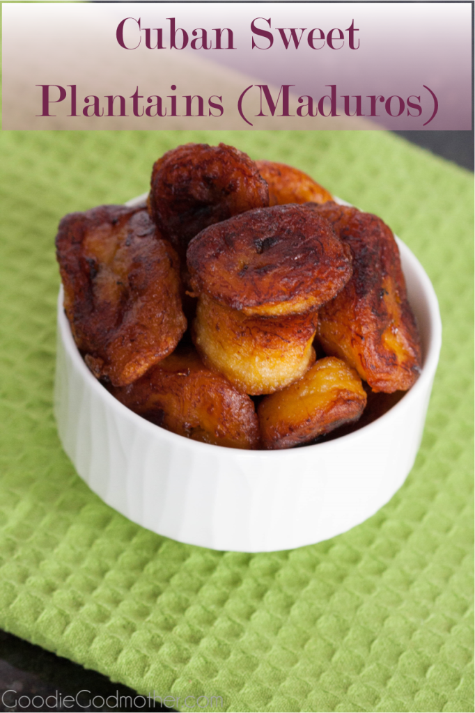 "You'd never guess these Cuban Sweet Plantains, also called ""maduros"", have no added sugar! A popular and easy to make side dish with just two ingredients."