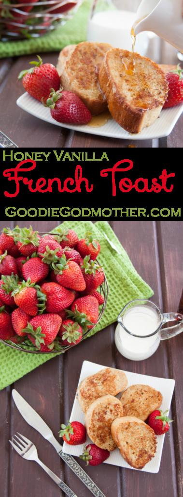 Honey Vanilla French Toast - a simple, sweet breakfast recipe