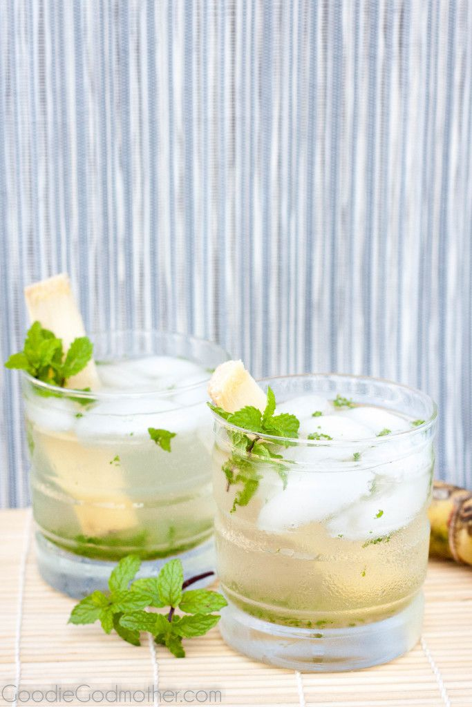 It's not summer without a classic mint mojito! Enjoy The Godfather's recipe for a classic and a non-alcoholic mint mojito! Recipe on GoodieGodmother.com