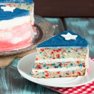Patriotic Funfetti Cake {video}