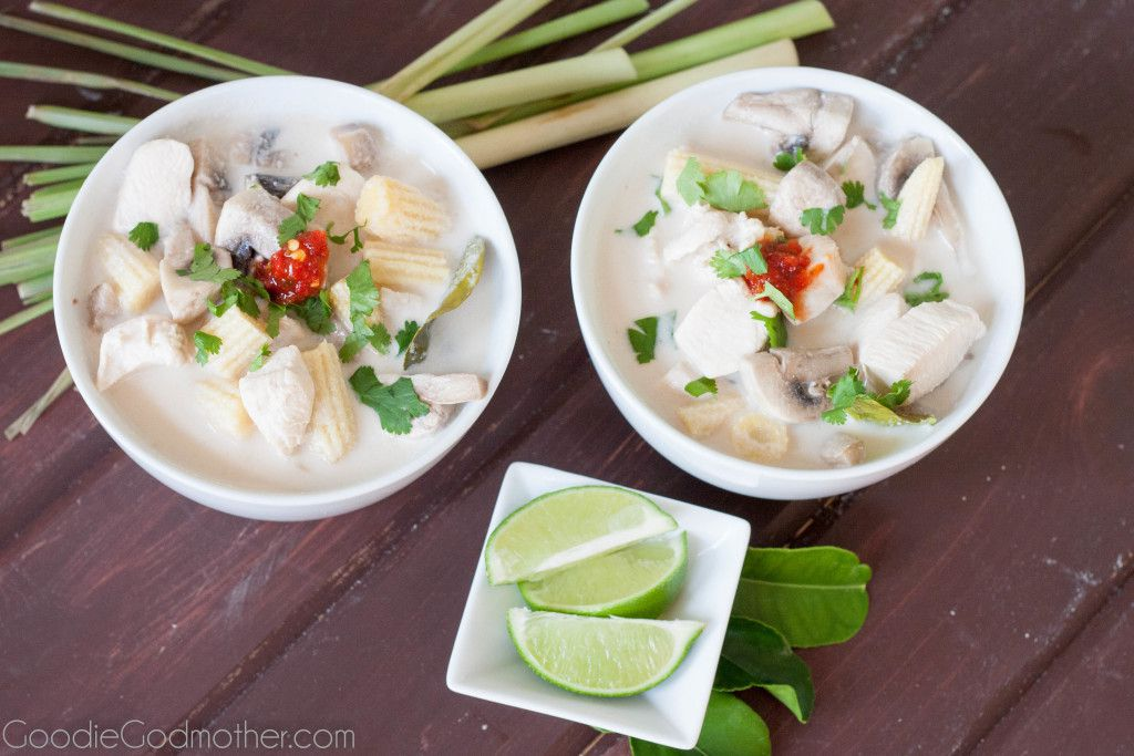 Thai ginger lemongrass soup - Authentic Tom Kha Gai - A nourishing and healthy Thai soup recipe by GoodieGodmother.com