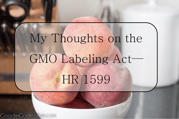 A food blogger and mother's heartfelt reaction to HR 1599.