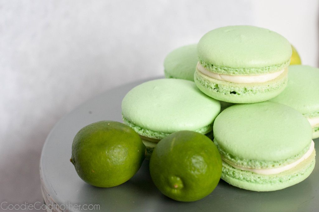 Gluten Free Key Lime Macaron Recipe on GoodieGodmother.com