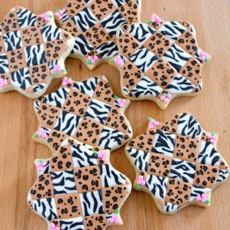 Leopard and Zebra Print Decorated Cookie Tutorial
