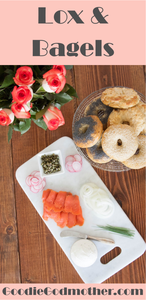 Smoked salmon, cream cheese, and bagels - a perfect weekend breakfast trifecta. Learn how to make the perfect lox and bagel sandwich and get tips for serving bagels to a crowd on GoodieGodmother.com