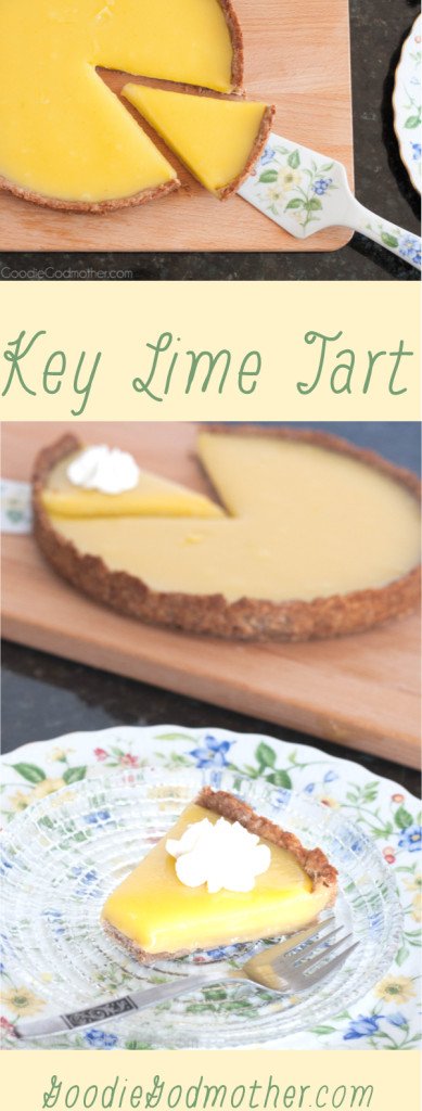 "Key lime tart is an easy, make ahead, key lime dessert with a refreshing sweet ""tart"" flavor... get it? ;) Recipe on GoodieGodmother.com"