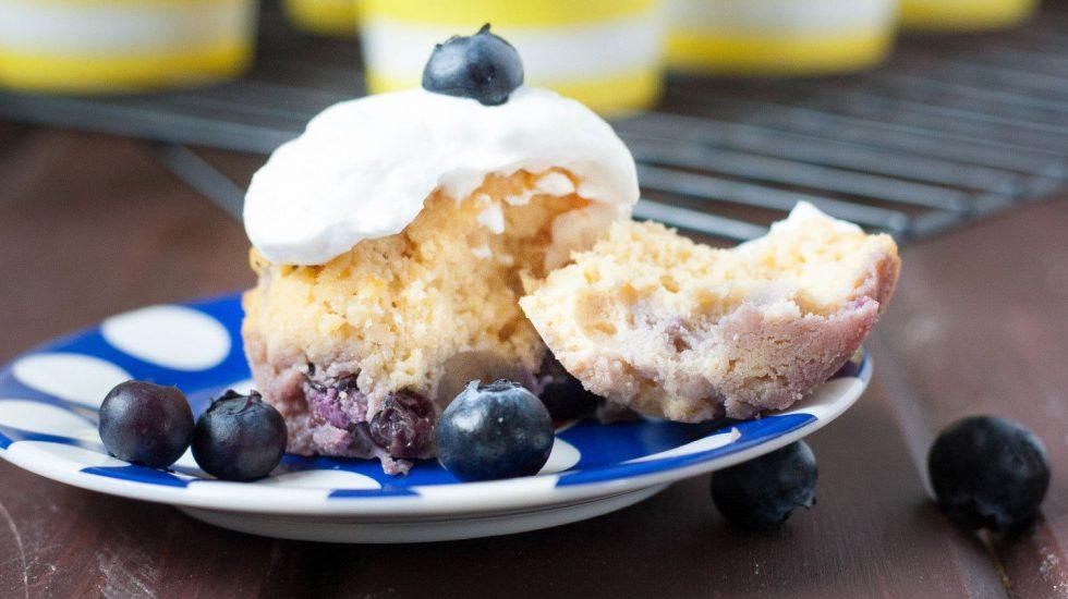 Paleo Lemon Blueberry Cupcakes {Nut Free}