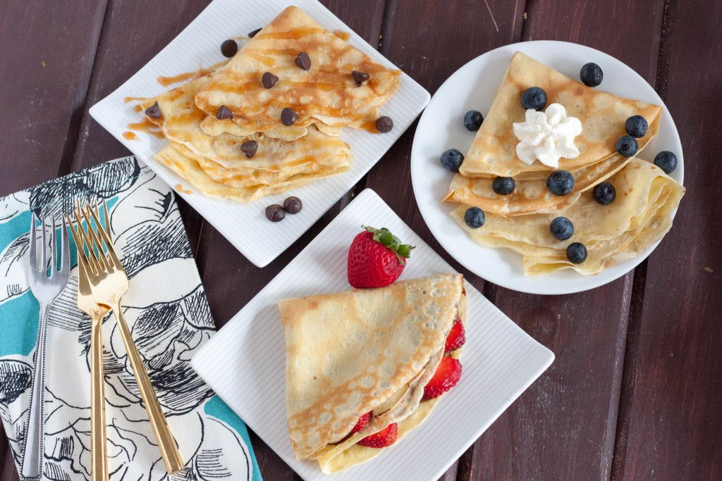 Sweet French Crepes recipe - easy to make sweet crepes recipe with no required batter rest time.