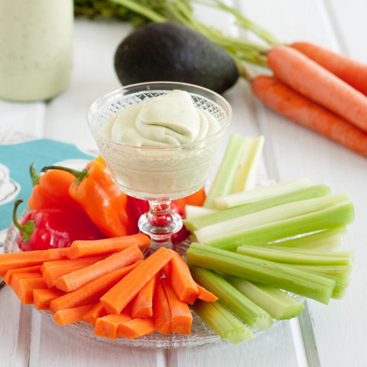 Only three simple steps stand between you and homemade Avocado Ranch Dressing. What are you waiting for? * Recipe on GoodieGodmother.com