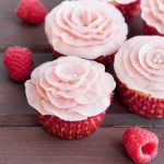 The perfect buttercream for decorating, this raspberry buttercream recipe uses fresh raspberries for a not-too-sweet flavor equally pleasing to kids and adults! Recipe on GoodieGodmother.com