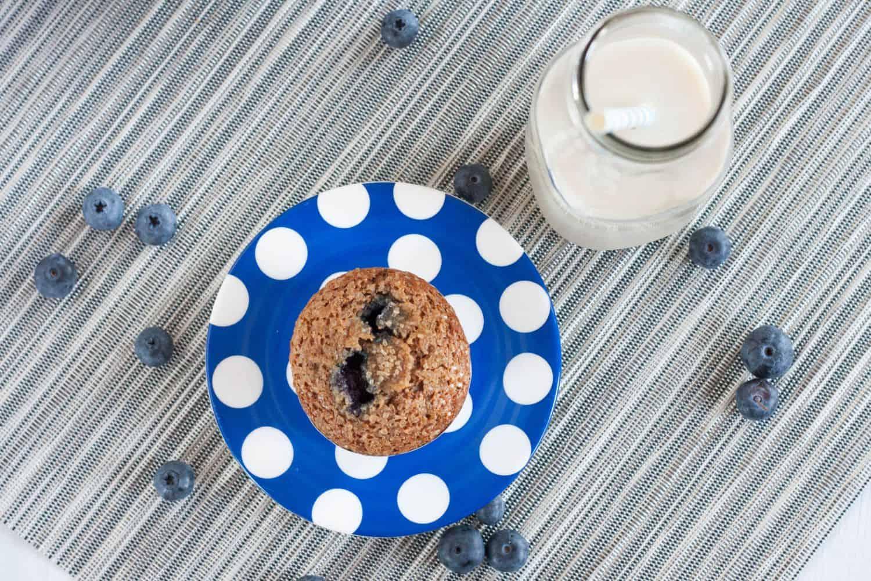 Crazy delicious vegan blueberry muffins!