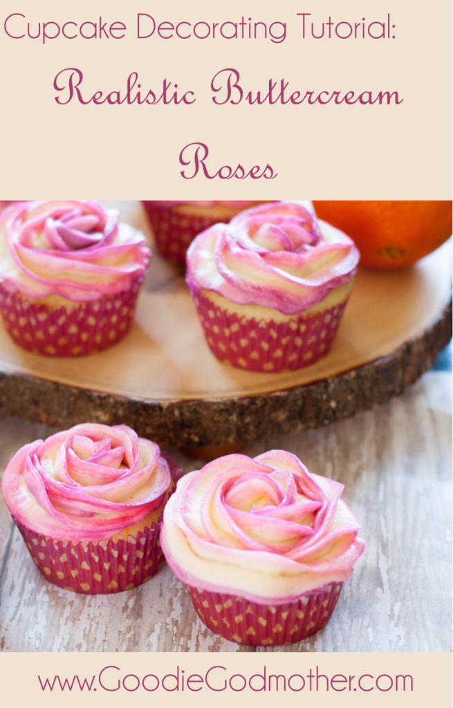 CUPCAKE DECORATING TUTORIAL: Realistic Buttercream Roses - Beautiful, easy, and the post includes a video so you'll be making beautiful cupcakes in no time!