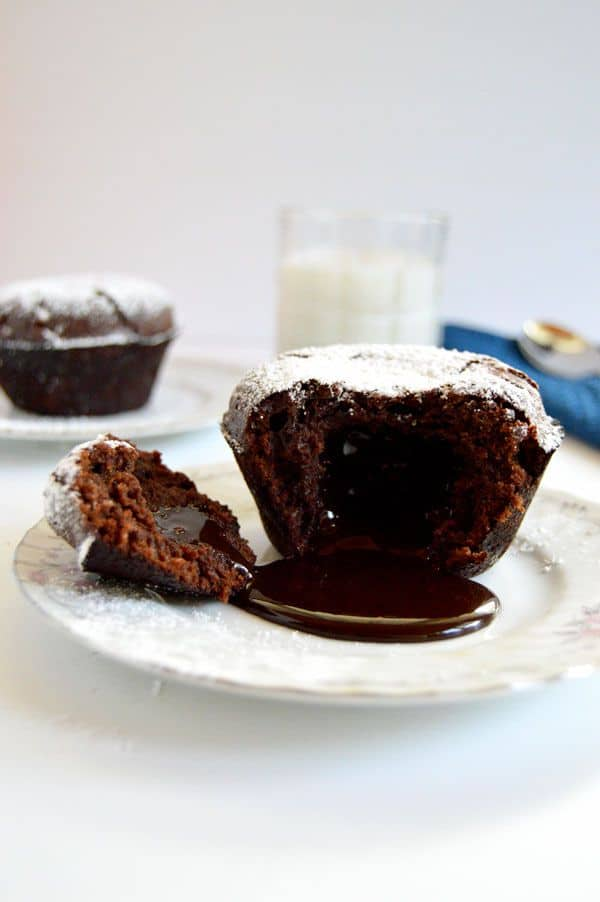 Chocolate Lava Cakes - Ready in less than an hour! A one-way ticket to chocolate nirvana