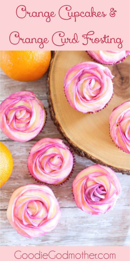 Naturally flavored orange cupcakes and orange frosting from scratch! Recipe on GoodieGodmother.com