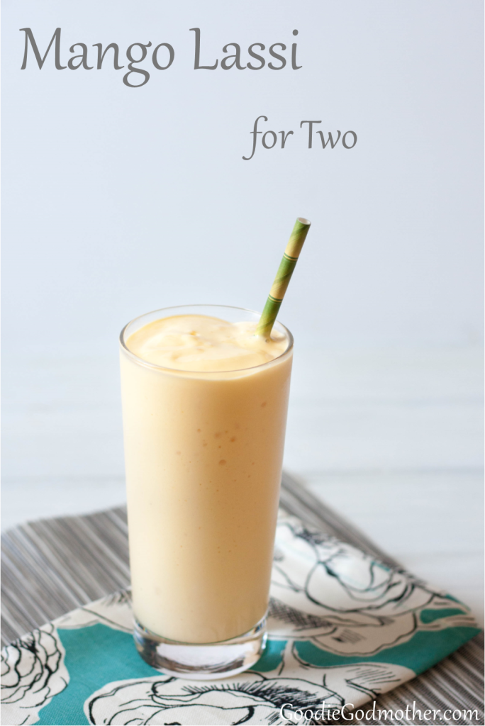 A refreshing mango yoghurt drink that's easy to make at home! This mango lassi recipe is really good, economical, and uses frozen mango, so you can make it year-round.