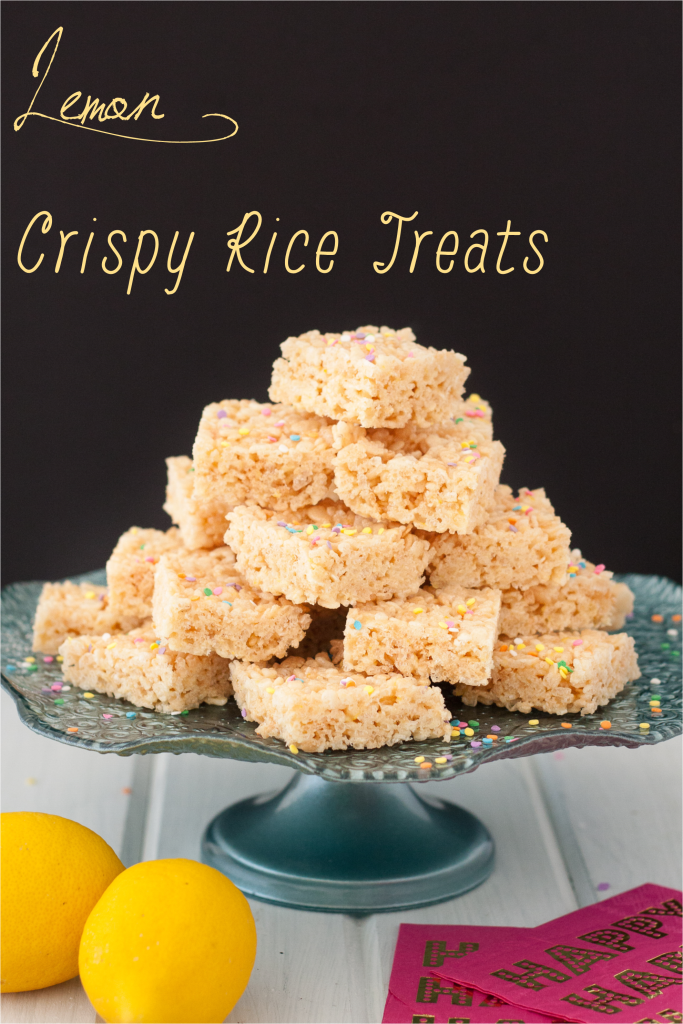 A fun take on a classic dessert, these lemon crispy rice treats are delicious and use only fresh lemon for flavor!