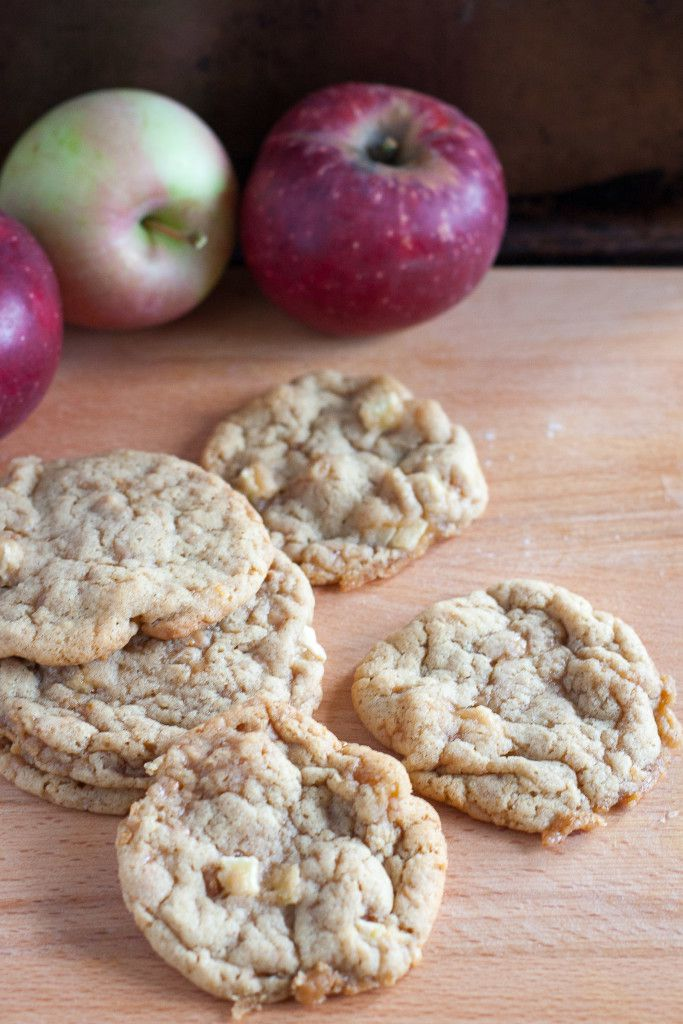 Chewy toffee apple cookies baked with fresh apples! Perfect for fall baking