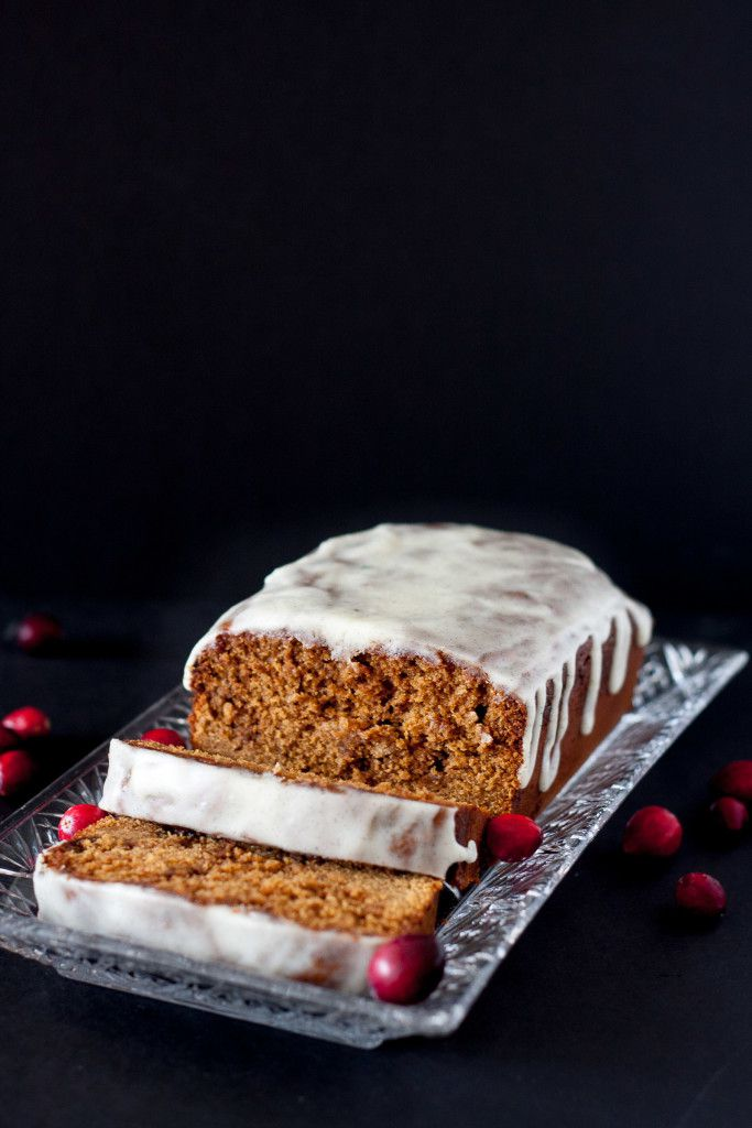 Moist, spiced, gingerbread loaf cake is a mouthwatering way to start the Christmas baking season! This recipe makes the house smell amazing!