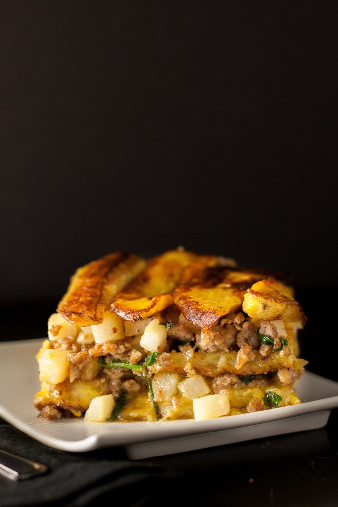 A show-stopping Puerto Rican Pastelon made HEALTHY! This salty sweet breakfast casserole is gluten free, paleo, and Whole30, but tastes rich enough to please every palate at the breakfast table.