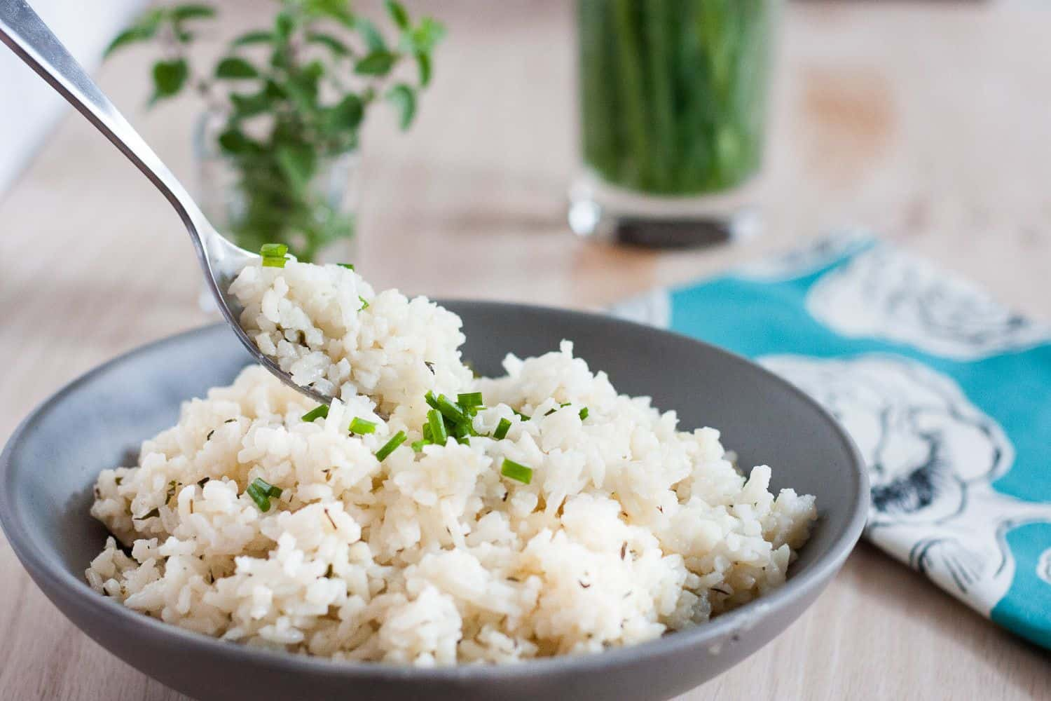 A recipe worth raiding the herb garden! Basil, thyme, oregano, and chives make this from-scratch pilaf colorful and tastier than anything you can buy in a box!