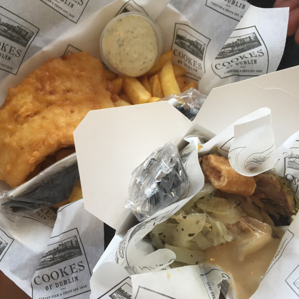 Fish & Chips and Hog In A Box - Cooks of Dublin - Disney Springs