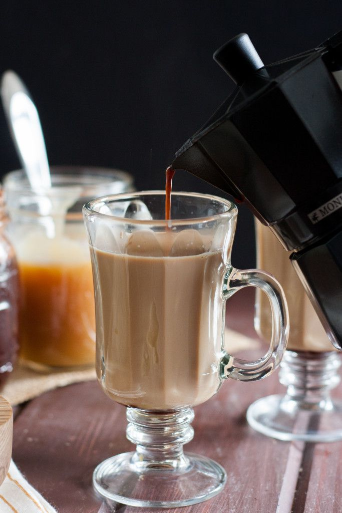 Make your own salted caramel mocha lattes from scratch at home! It's fun to be your own barista!