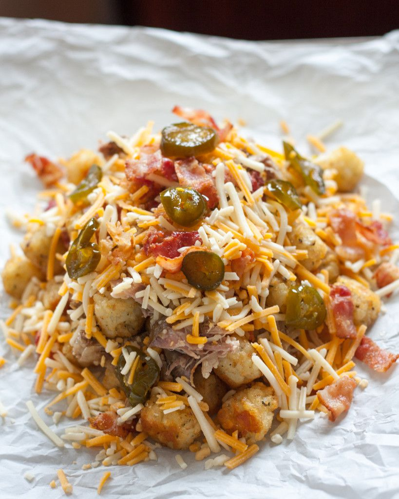 The ULTIMATE appetizer - tater tot nachos! Look no further for your Super Bowl party. These are amazing!