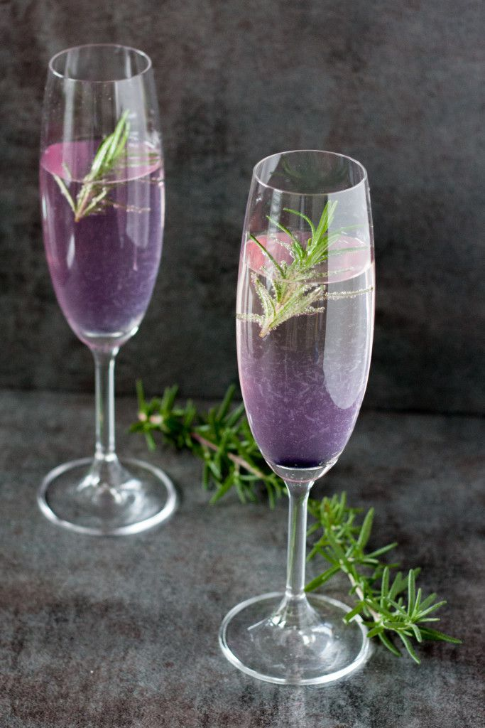 Rosemary 75 Champagne Cocktail - Goodie Godmother - A ...