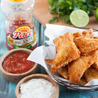 Cheesy Chicken Fried Ravioli