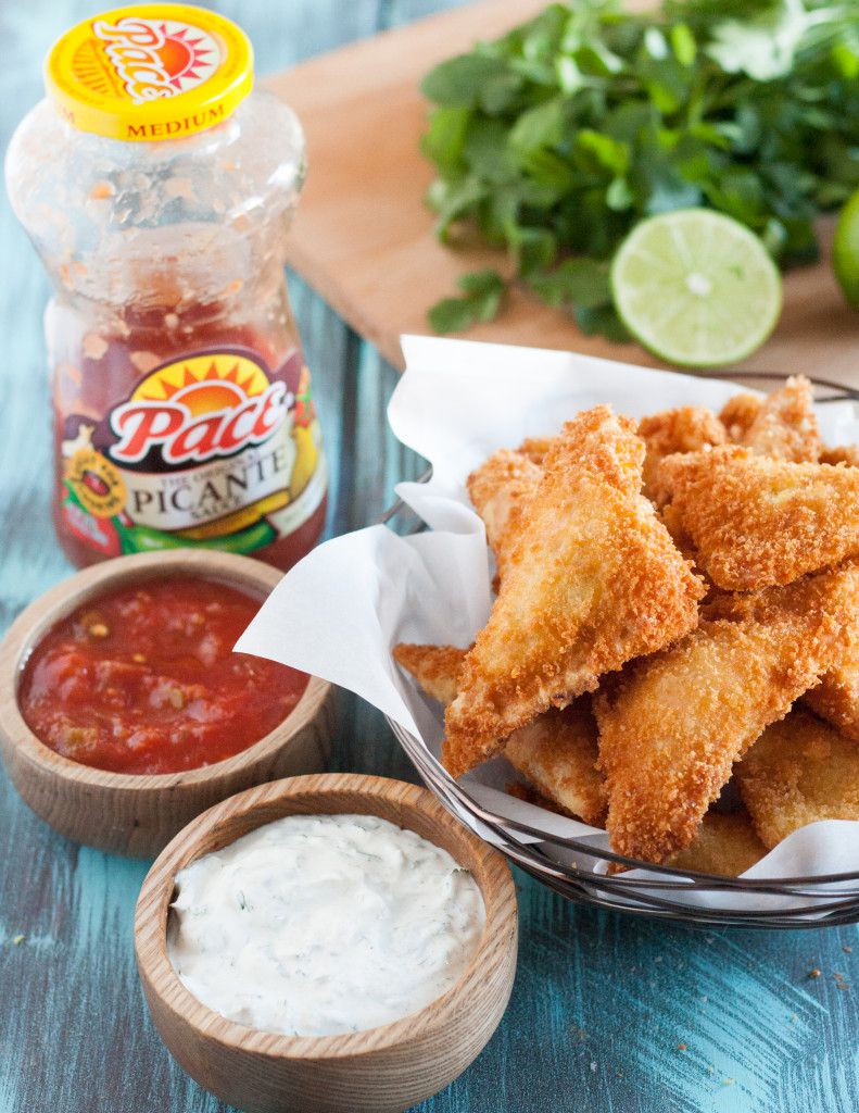 Win MVP at your next party with these Cheesy Chicken Fried Ravioli! An easy party appetizer recipe with amazing flavor! Get the recipe on GoodieGodmother.com