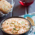 Daufuskie Soup - A creamy seafood soup recipe inspired by coastal South Carolina. Recipe on GoodieGodmother.com