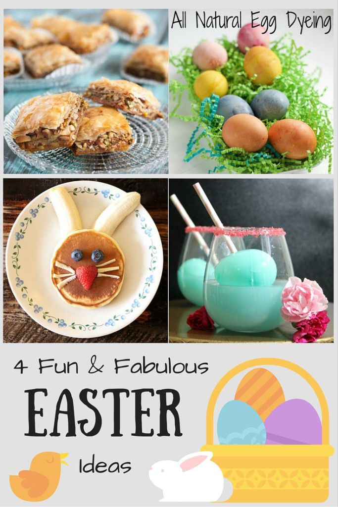Desserts, Drinks and Natural Egg Dye - 4 practical Easter ideas