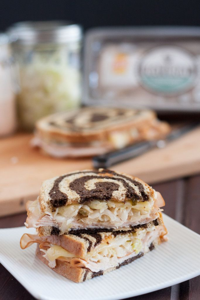 #OscarMayerNatural #sponsored - Your favorite deli sandwich can be part of a balanced diet! Make your own easy Turkey Reuben Sandwiches at home. Recipe for homemade 1000 Island Dressing included.