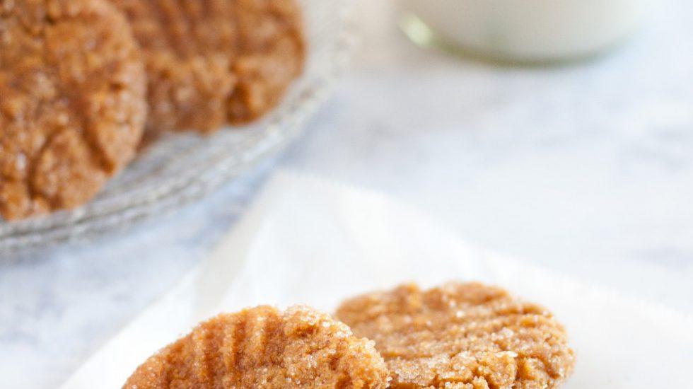 Soft Vegan Peanut Butter Cookies
