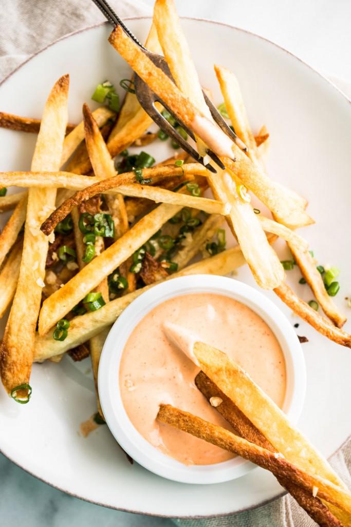 Baked-Double-Garlic-Scallions-Fries-Hapa Nom