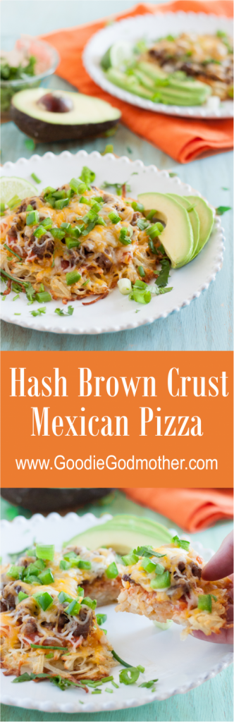 Hash Brown Crust Mexican Pizza * GoodieGodmother.com