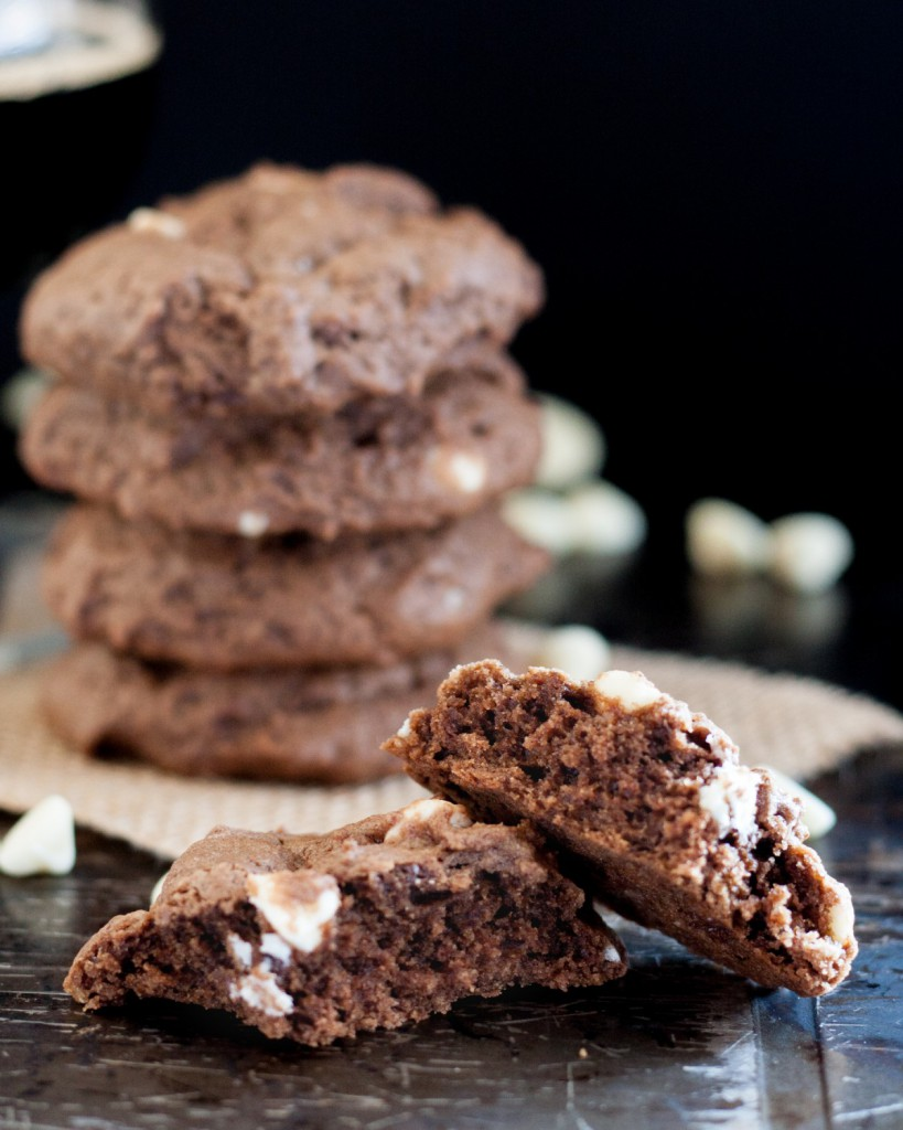 Soft chocolate coffee stout beer cookies are the perfect treat for a beer lover! The beer taste is just right and blends perfectly with the chocolate. * GoodieGodmother.com