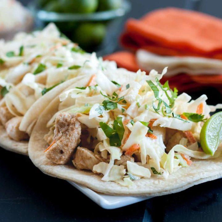 Key Lime Chicken Tacos * GoodieGodmother.com