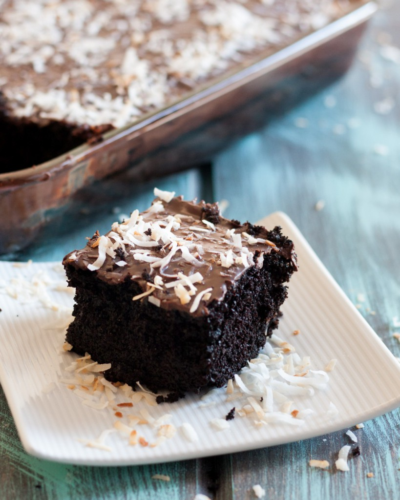 Chocolate Coconut Crazy 8 Cake A One Pan With No Eggs Milk